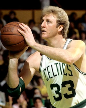 50 Greatest Players in NBA History - Image: Larry Bird Lipofsky
