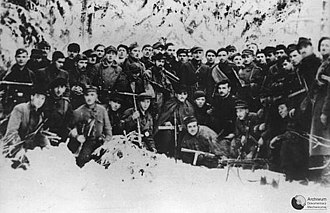 2nd Legions' Infantry Regiment - Last picture of the 4th company of 2nd Home Army Legions' Infantry Regiment, shortly before the unit was disbanded and most of its soldiers arrested by the NKVD; January 1945