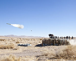 Launch of a FIM-92 Stinger missile, 2012.jpg