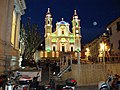 Lavagna - Basilica di Santo Stefano and surroundings with Christmas lights.jpg