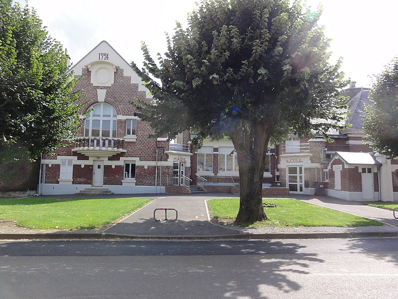 Le Verguier (Aisne) mairie et école