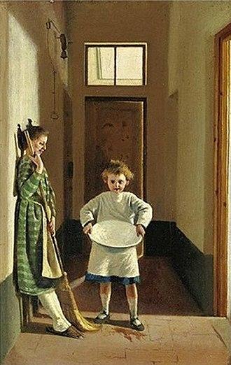 Adriano Cecioni - Image: Le faccende di casa by Adriano Cecioni 1869