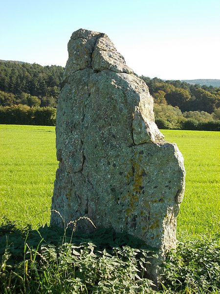 De menhir van Ozo, gezien vanuit het noordwesten
