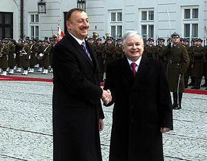 Azerbaijan–Poland relations - Lech Kaczyński and Ilham Aliyev, 2008.