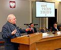 Lech Wałęsa Spotkanie byłych posłów i senatorów Obywatelskiego Klubu Parlamentarnego Sejm 2009.JPG