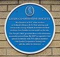 Leeds Co-operative Society blue plaque 2018.jpg