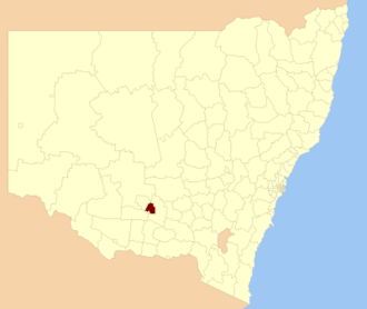 Leeton Shire - Location in New South Wales