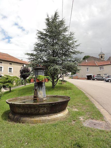 Lemainville(M-et-M) fontaine rue principale