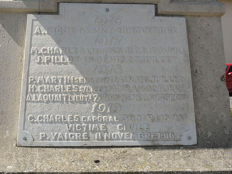 Les Paroches (Meuse) monument aux morts