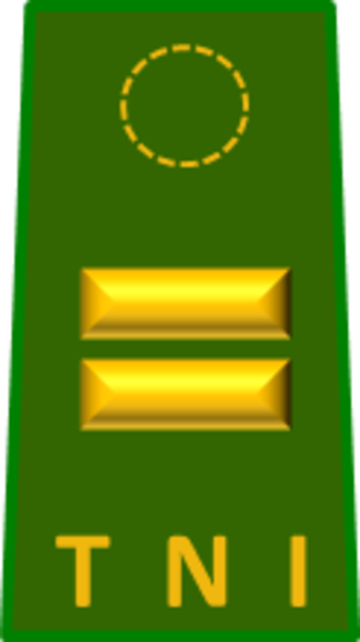 First lieutenant - The First lieutenant rank insignia of the Indonesian Army