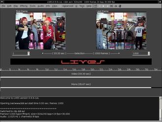 LiVES - Image: Li VES Screenshot