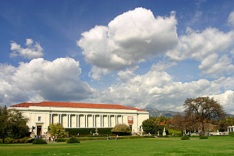 Huntington Library - Huntington Library, in a landscape setting by Beatrix Farrand