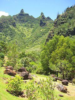 botanical garden and nature preserve on the north shore of Kauaʻi island, Hawaiʻi