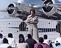 Linda Finch speaks to children during World Flight in New Orleans, La (97-095-3).jpeg
