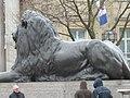 Lion Guarding Trafalgar Square London - geograph.org.uk - 372239.jpg