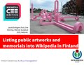 Listing public art into Wikipedia in Finland.pdf