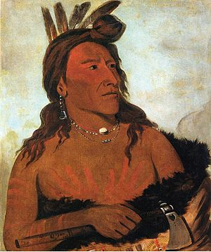 Racism in the work of Charles Dickens - One of the paintings by George Catlin of Native Americans