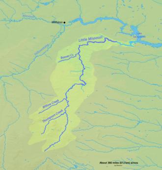 Little Missouri River (North Dakota) - Image: Littlemissouririverm ap