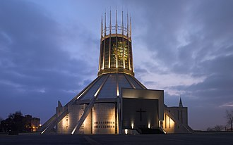 Liverpool Metropolitan Cathedral - The cathedral at dusk