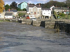 Llechryd Bridge (during flood) - geograph.org.uk - 71820.jpg