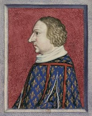 Louis I, Duke of Anjou - 15th-century portrait of Louis