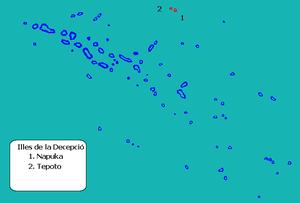 Napuka - Image: Localización de las islas de la Decepción en las Tuamotu