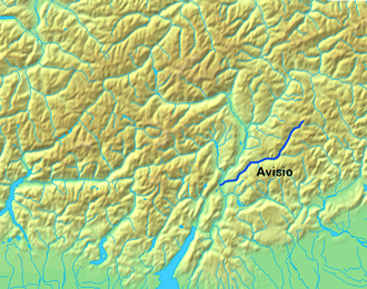 Avisio - The Avisio river in Moena, in northern Italy