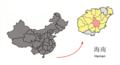 Location of Qiongzhong within Hainan (China).png