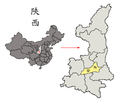Location of Sian and Shensi in China.png