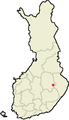 Location of Tuusniemi in Finland.png