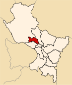 Location of the province Urubamba in Cusco.svg