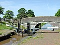 Lock gates and Coxbank Bridge, Cheshire - geograph.org.uk - 1597167.jpg