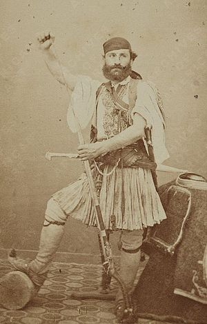 Lockwood de Forest - Lockwood de Forest wearing a Greek costume, circa 1870