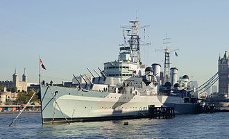HMS Belfast (C35) - Image: London November 2013 14a
