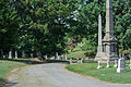 Looking N on West Tour Road - Glenwood Cemetery - 2014-09-14.jpg