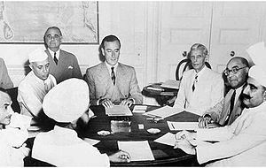 Partition of Bengal (1947) - Louis Mountbatten discusses the partition plan with Jawaharlal Nehru and Mohammad Ali Jinnah