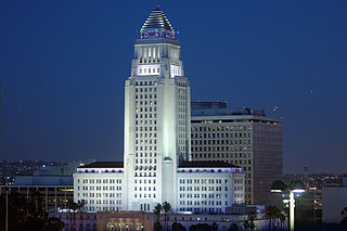 Los Angeles City Hall 1928 building housing the government of the city of Los Angeles, California