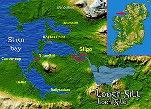 Sligo Bay - Image: Loughgillsatmap