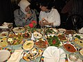 Lovely Syrian food after the workshop on constructed wetlands in Damascus (3232389066).jpg