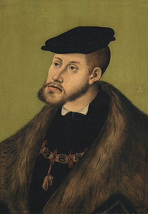 Protestation at Speyer - Charles V, Holy Roman Emperor by Lucas Cranach the Elder, 1533