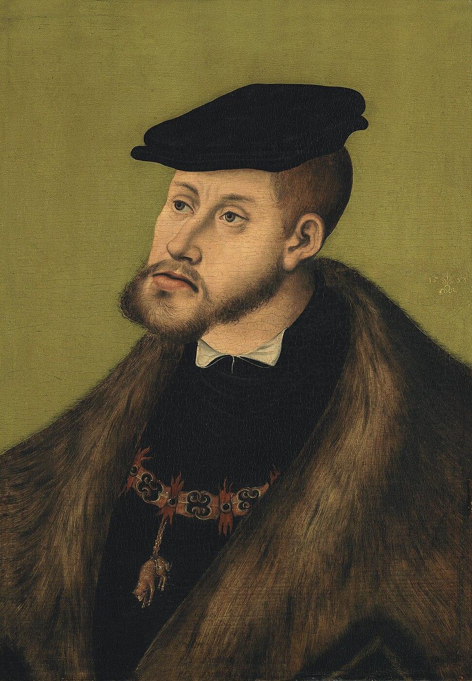 Lucas Cranach d.%C3%84. - Portr%C3%A4t Kaiser Karl V.