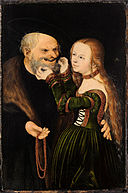 Lucas Cranach the Elder - The Unequal Couple (Old Man in Love) - Google Art Project.jpg