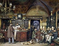 Ludwig Passini - Künstler im Cafe Greco in Rom.jpg