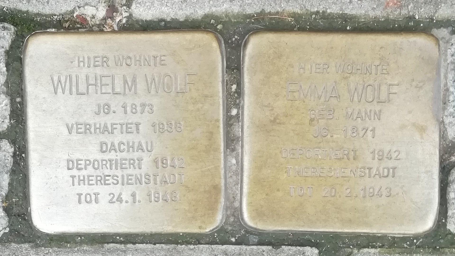 Stolperstein für Emma Wolf