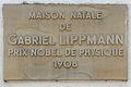 Luxembourg Bonnevoie plaque Gabriel Lippmann.jpg