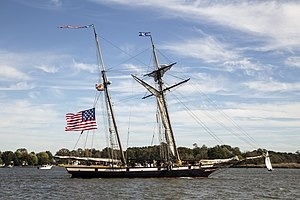 Lynx (tall ship) - Lynx on the Chester River at Chestertown, Maryland in 2017
