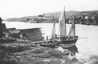 Lysekil Municipality - Postcard from Fiskebäckskil around 1900.