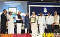 M. Hamid Ansari presenting the 'Bharat Ratna Dr. S. Radhakrishnan Centenary Award for Social Science' to the former Governor of West Bengal, Shri Gopalakrishna Gandhi.jpg