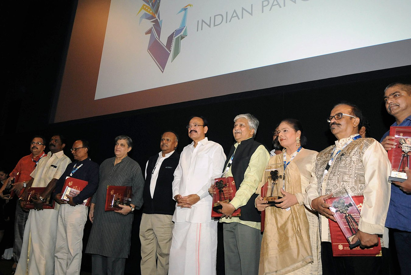 M. Venkaiah Naidu at the inauguration of the Indian Panorama, during the 47th International Film Festival of India (IFFI-2016), in Panaji, Goa (1).jpg