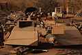 M1A1 Abrams tank equipped with tank urban survivability kit.jpg